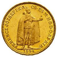 20 koronás magyar befektetési aranyérme
