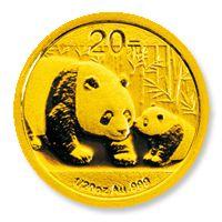 Panda befektetési aranyérme 1/20 uncia