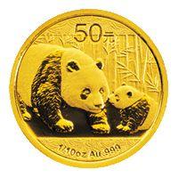 Panda befektetési aranyérme 1/10 uncia