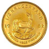 Krugerrand befektetési aranyérme 1/2 uncia