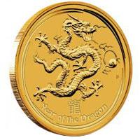 Sárkány éve 2012 befektetési aranyérme 1 uncia