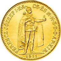 10 koronás magyar aranyérme