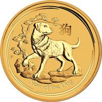 Kutya Éve 2018 befektetési aranyérme 1 uncia