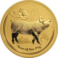 Disznó Éve 2019 befektetési aranyérme 1 uncia