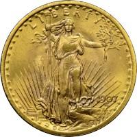 20 dollár Double Eagle St. Gaudens befektetési aranyérme