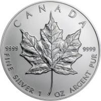 Maple Leaf ezüstérme 1 uncia különbözeti áfás, vegyes évjárat