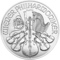 Bécsi Filharmonikusok platina érme 1 uncia