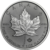 Maple Leaf platina érme 1 uncia