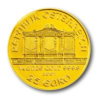 Bécsi Filharmonikusok aranyérme 1/4 uncia