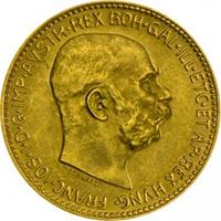 20 koronás osztrák befektetési aranyérme