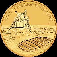 Holdraszállás 50. évforduló 1969-2019 1 unciás befektetési aranyérme