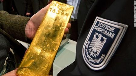 Német aranyrúd a Bundesbank trezorjában