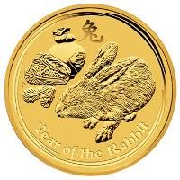 Nyúl éve 2011 befektetési aranyérme 1 uncia