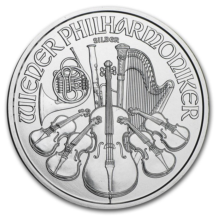 2016 Ausztria Bécsi Filharmonikusok ezüstérme előlap