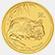 Patkány éve 2008 befektetési aranyérme 1 uncia