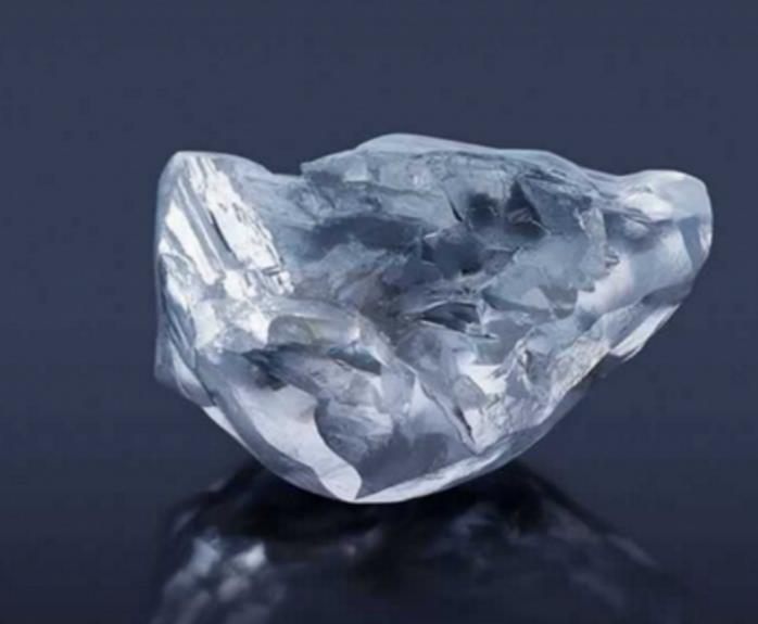 A 357 karátos Letseng Dinasty gyémánt csiszolatlan állapotban.