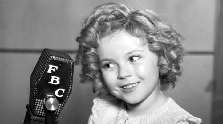 Shirley Temple gyerekszínész a negyvenes években