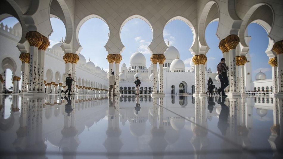 Adu Dhabi Zayed mecset.