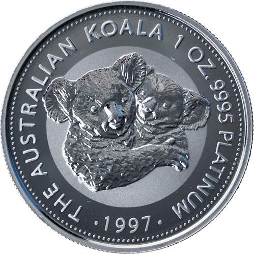 Platina KOala érme, 1995-ös évjárat. A kép illusztráció