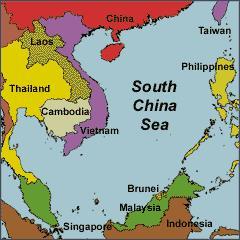 A Dél-kínai tengeri övezet. Forrás: www.safety4sea.com, Conclude Zrt.