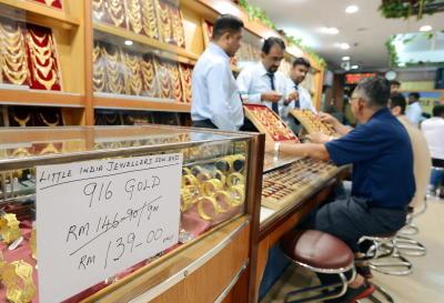 Aranyékszer-bolt Kis Indiában. Forrás: tthestar.com.my, Conclude Zrt.