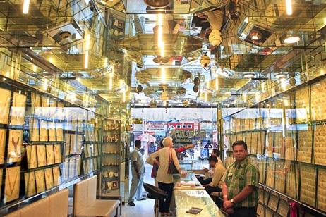 Aranyékszer-üzlet Indiában. Forrás: thenational.ae, Conclude Zrt.