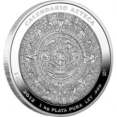 Azték naptár ezüstérme 1kg
