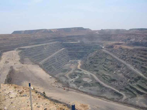 A Jwaneng bánya Botswanában. Conclude Zrt. Forrás: eis.bris.ac.uk