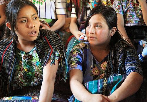 Maja lányok Guetamalában. Conclude Zrt. Forrás: intercontinentalcry.org