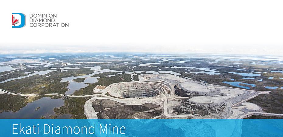 A Dominion Diamond bányája. Forrás: www.infomine.com, Conclude Zrt.