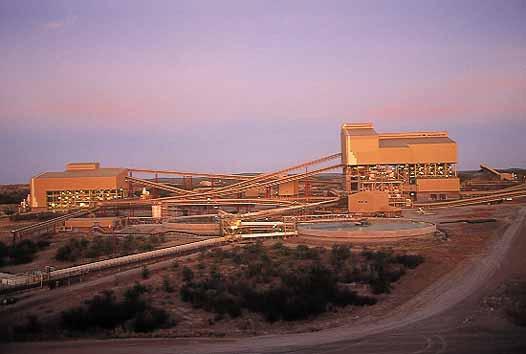A Venetia bánya Dél-Afrikában. Forrás: www.mining-technology.com, Conclude Zrt.