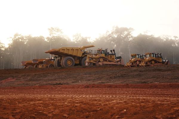 A Newmont 2016 végén beinduló Merian projektjének előkészítése Suriname-ban. Forrás: Mining.com, Conclude Zrt.