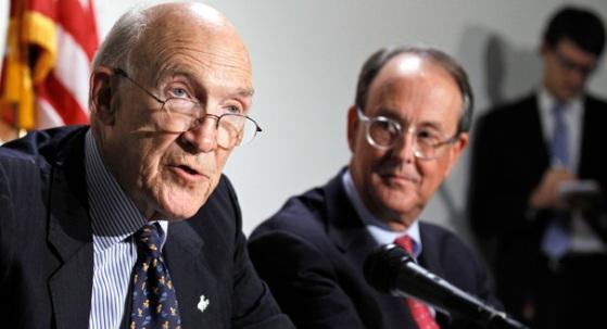 Alan Simpson és Erskine Bowles. Forrrás: www.politico.com, Conclude Zrt.