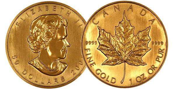 Maple Leaf befektetési aranyérme 1/4 uncia
