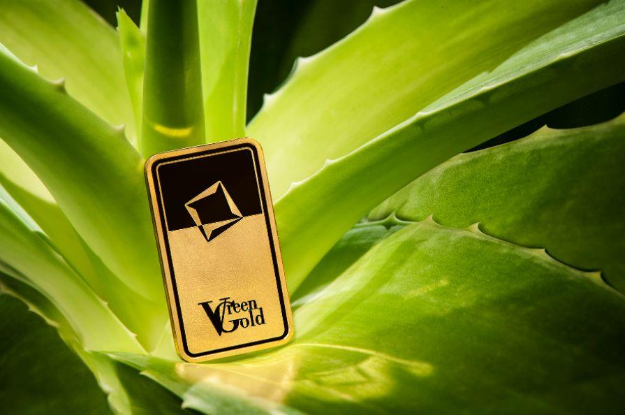 Valcambi Zöld Arany 100 gramm befektetési aranylapka