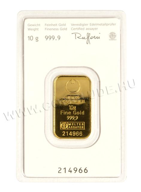 Aranylapka 10 gramm