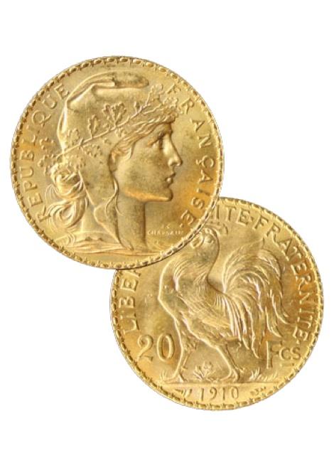 Napóleon arany-Lajos arany befektetési aranyérme 20 frankos
