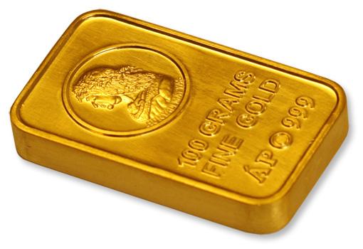 BÁV-Mátyás király befektetési aranyrúd 100 g