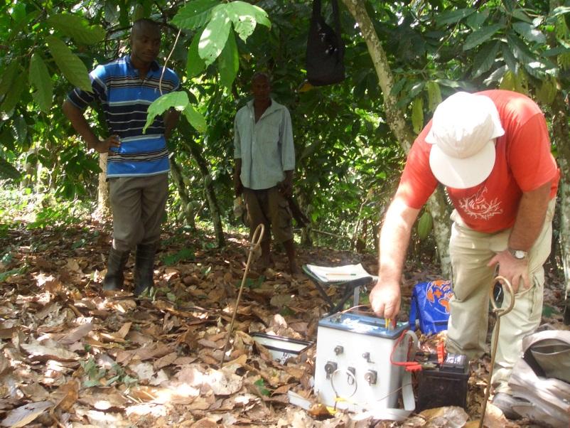 Geofizikai vizsgálat, Conclude Ghana, Ashanti régió, 2011 december
