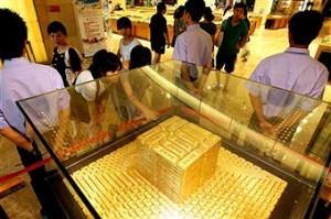 Indiai aranyékszer-üzlet. Forrás: blogs.ft.com, Conclude Zrt.