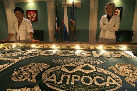 A legnagyobb volumenű gyémántot termelő orosz Alrosa központjában. Forrás: BullionStreet, Conclude Zrt.