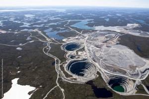 Az Ekati gyémántbánya Kanadában. Forrás: norj.ca, Conclude Zrt.