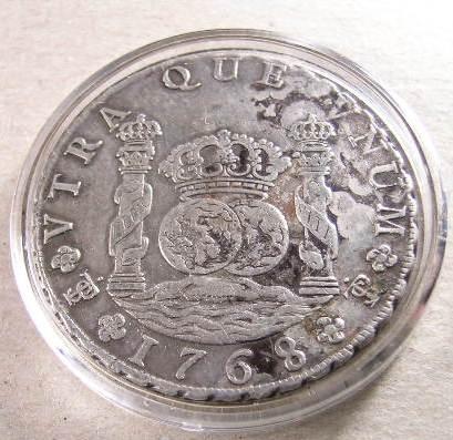 Az 1768-as ezüstérme a PTSI jellel. Forrás: Wikipédia, Conclude Zrt.