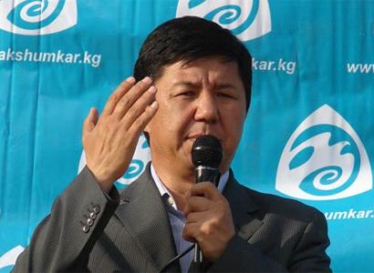 Temir Sarijev kirgiz gazdasági miniszter. Forrás: kyrgyzstan.carnegieendowment.org; Conclude Zrt.