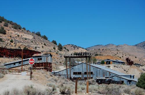 Elhagyatott ezüstbányák nevadában; Forrás: legendsofamerica.com; Conclude Zrt.