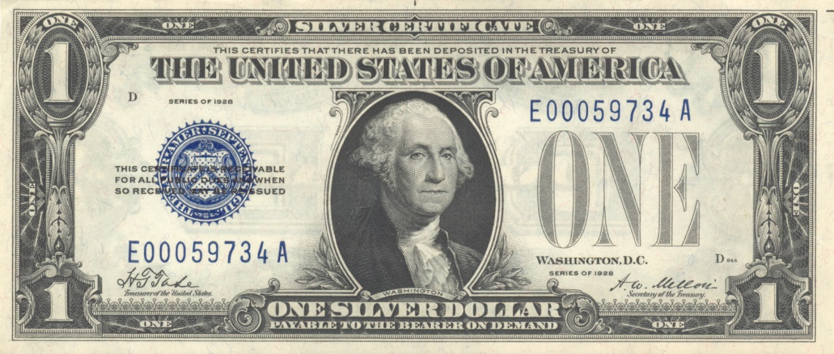 Ezüstcertifikátos dollár; Forrás: wikimedia.org; Conclude Zrt.