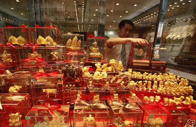 Aranyüzlet Hongkongban. Forrás: AP, Conclude Zrt.