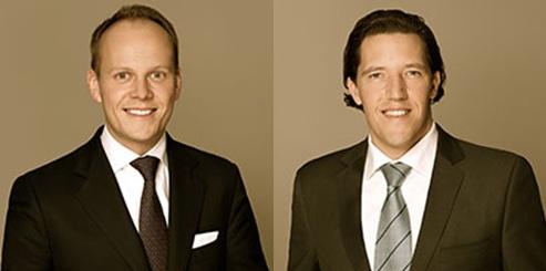 Ronald-Peter Stöferle (balról) és Mark J. Valek. Forrás: www.incrementum.li, Conclude Zrt.