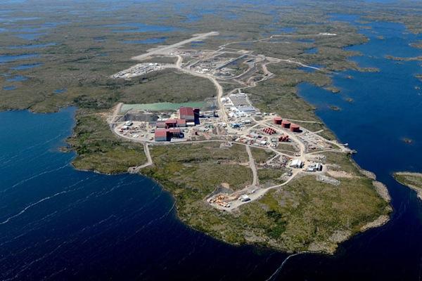 A Snap Lake gyémántbánya Kanada északkeleti részén. Forrás: Mining.com, Conclude Zrt.