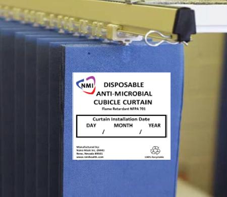 Ezüstbevonatú antimikrobiális kórházi öltözőfüggöny. Forrás: alajajigroup.com, Conclude Zrt.